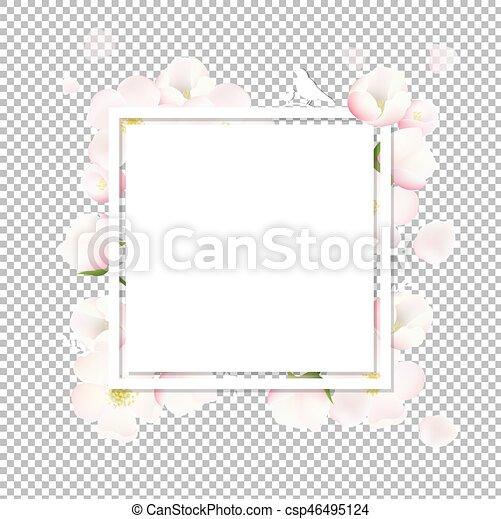 flores mola, árvore, maçã, cartão - csp46495124