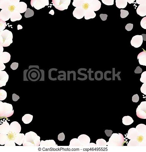 flores mola, árvore, maçã, cartaz - csp46495525
