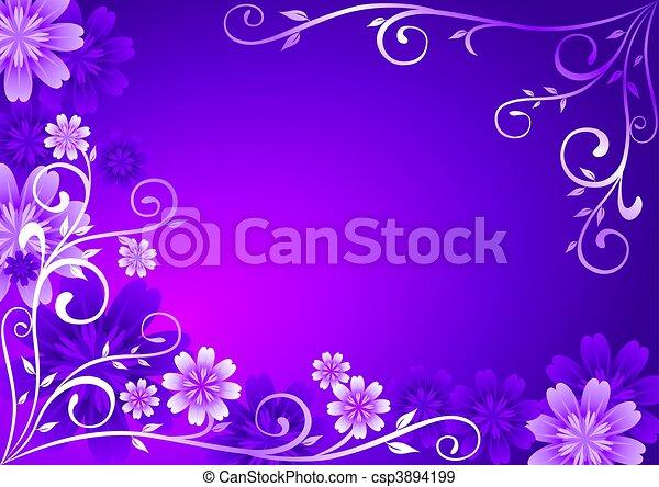 Flores de violeta adornadas - csp3894199