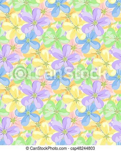 flores, pattern., seamless - csp48244803