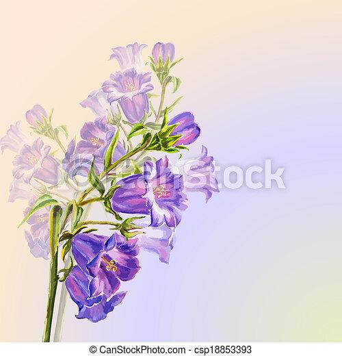 Las flores de primavera invitan a plantilla - csp18853393