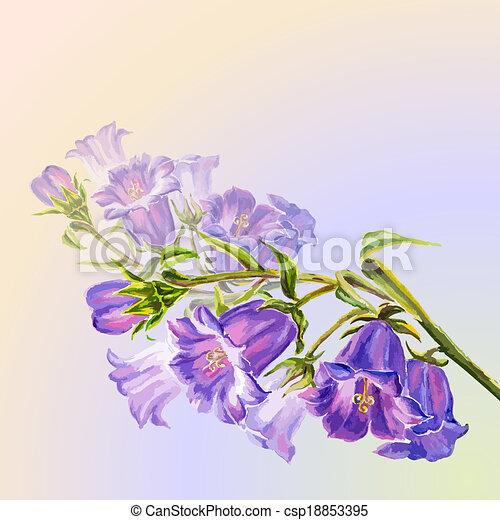 Las flores de primavera invitan a plantilla - csp18853395