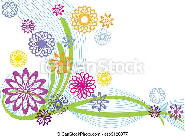 Flores abstractas - csp3120077