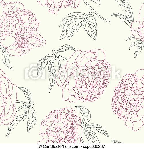 Flores de peonía sin fondo. - csp6688287