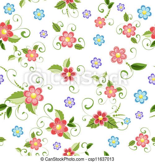 Flores sin costura - csp11637013