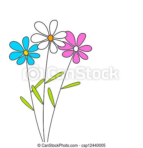 flores, três - csp12440005