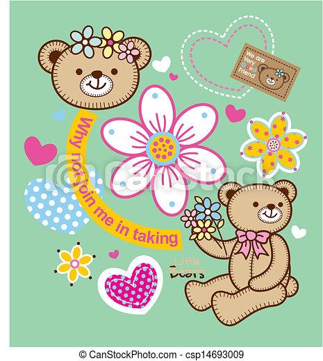 Vector de flores de oso - csp14693009
