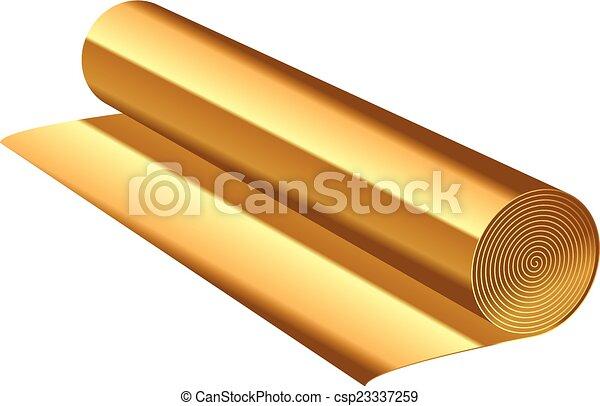 florett, vektor, illustration, guld - csp23337259