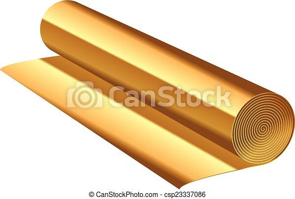 florett, vektor, illustration, guld - csp23337086