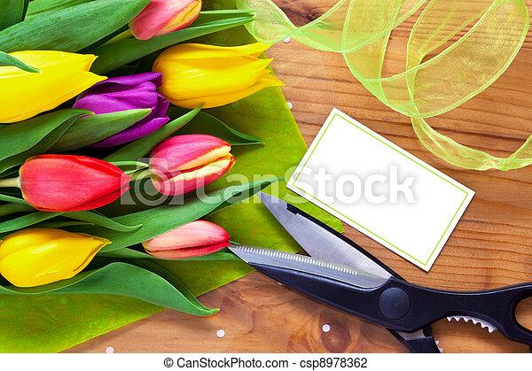 floricultor, buquet, vida, flor, ainda - csp8978362