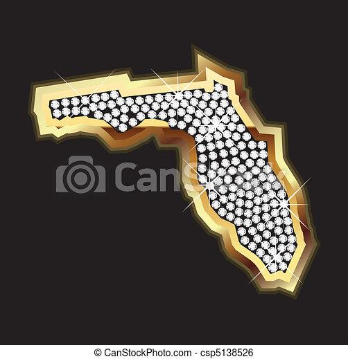 florida bling map - csp5138526