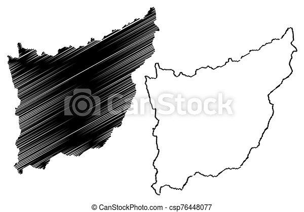 Florida Department (Departments of Uruguay, Oriental Republic of Uruguay) map vector illustration, scribble sketch Florida map - csp76448077