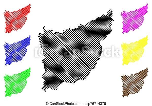 Florida Department (Departments of Uruguay, Oriental Republic of Uruguay) map vector illustration, scribble sketch Florida map - csp76714376