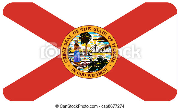 florida flag stock illustration
