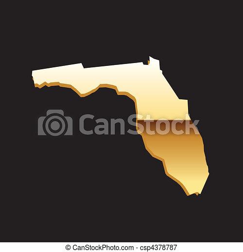 Florida gold map - csp4378787