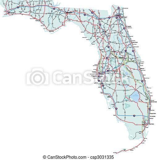 Florida Interstate Road Map - csp3031335