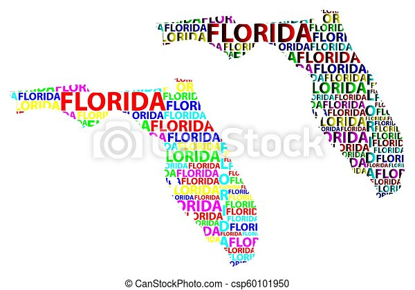 Florida map - csp60101950