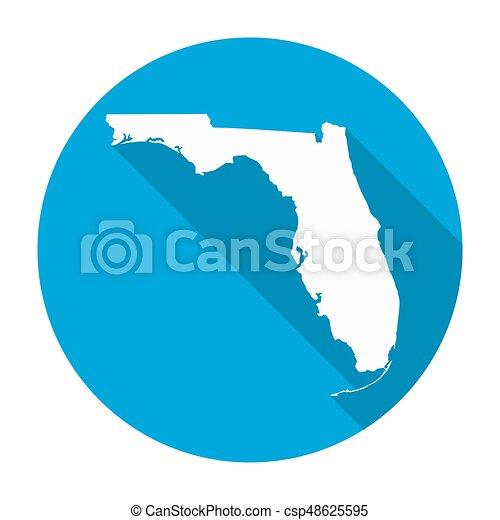 Florida map flat icon florida state map flat icon with long shadow florida map flat icon csp48625595 gumiabroncs Images