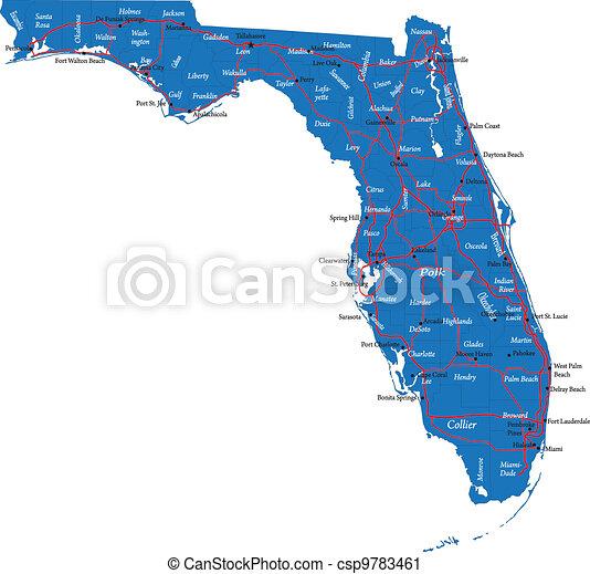 Florida map - csp9783461