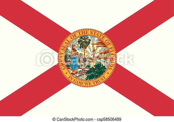Florida state flag - csp58506489