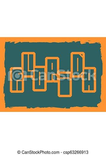 Florida state name - csp63266913