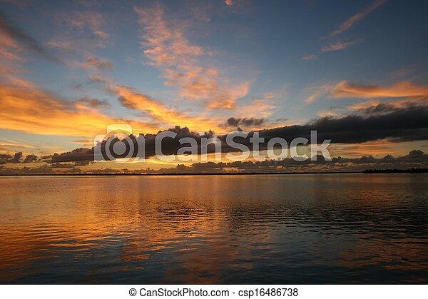 Florida Sunrise Indian River - csp16486738