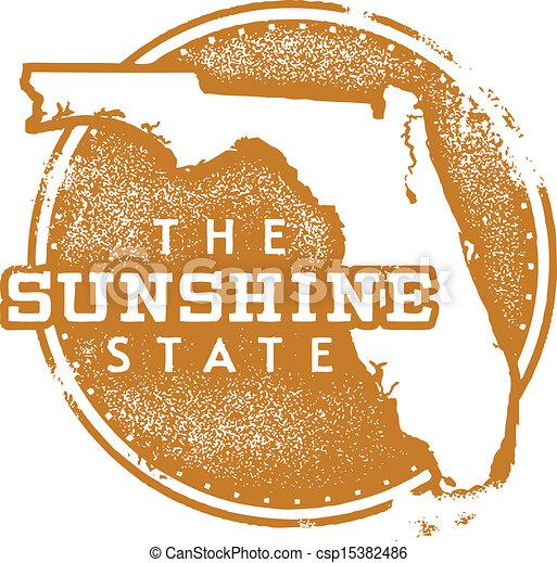 Florida Sunshine State Stamp - csp15382486