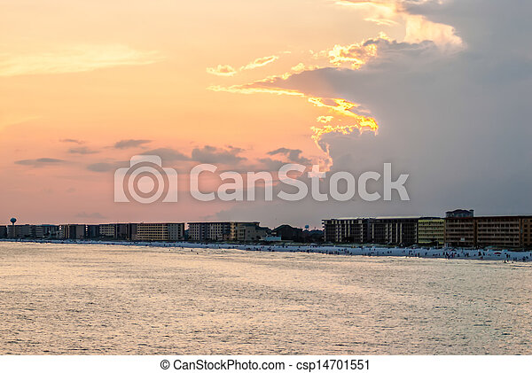florida, tengerpart táj - csp14701551