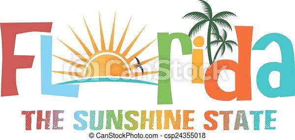 Florida theme name - csp24355018