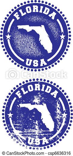 Florida USA Stamps - csp6636316