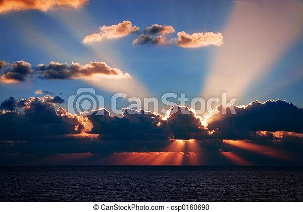 floride, levers de soleil - csp0160690
