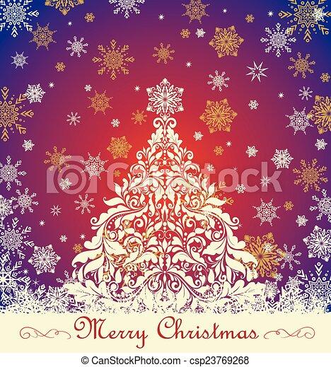 florido, navidad, saludo - csp23769268