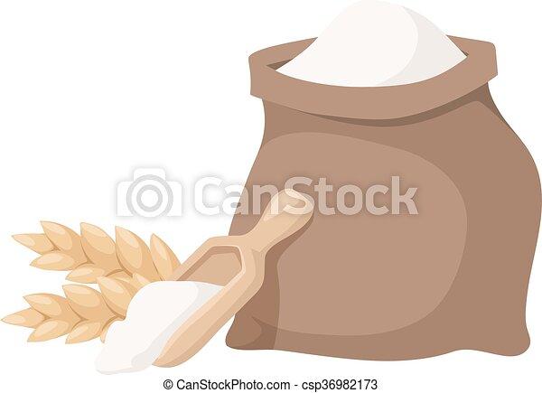 Flour bag vector illustration. - csp36982173