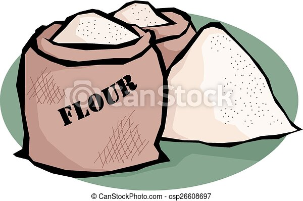 flour illustration of two bags and a heap of flour https www canstockphoto com flour 26608697 html