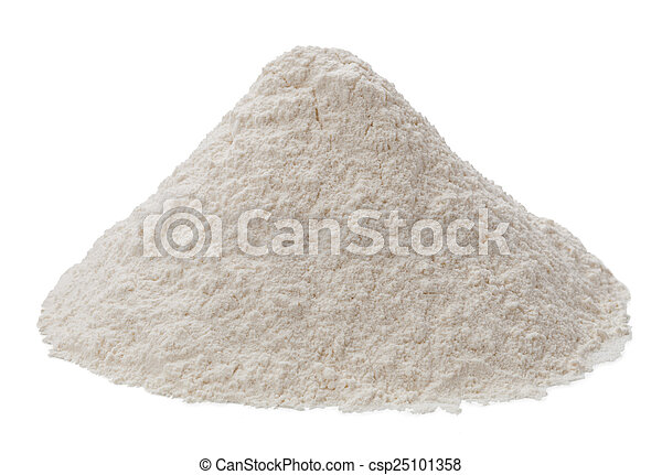 Flour isolated on a white background - csp25101358
