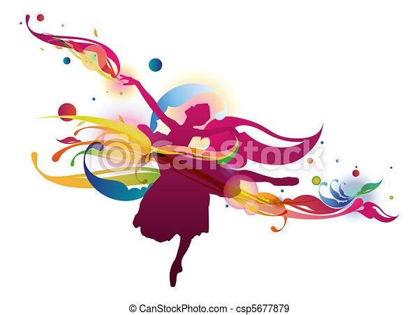 Flourish Ballet Dancer - csp5677879