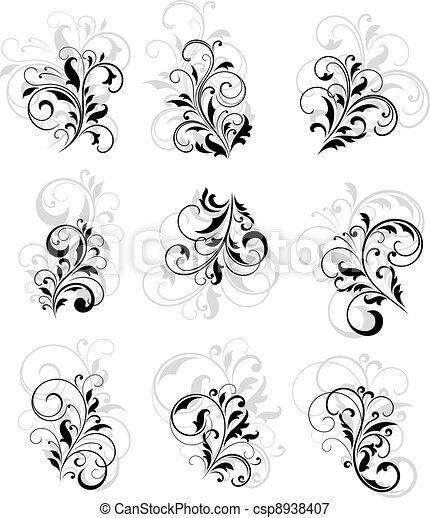 Flourish design elements - csp8938407