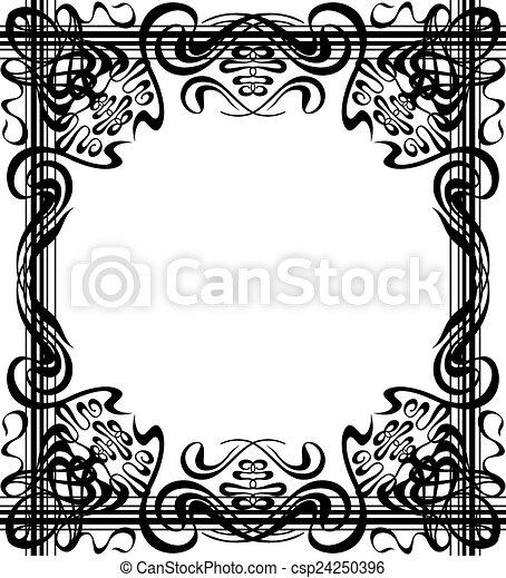 Flourishes border square flourishes frame art deco style template flourishes border csp24250396 stopboris Image collections