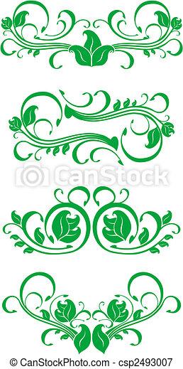 Flourishes decorations - csp2493007