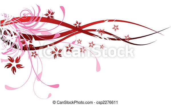 flourishes, rosso - csp2276611