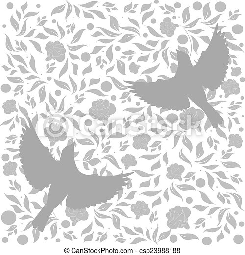 Flourishes with birds - csp23988188