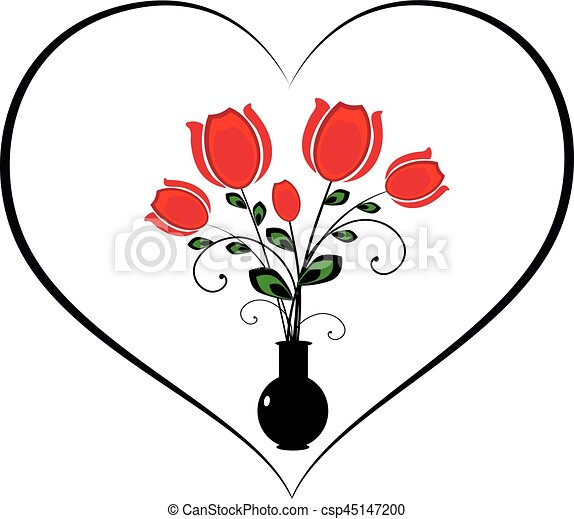 flourishes with heart and flowers it is a vector vector clipart rh canstockphoto com flourishes vector free download retro flourishes vector