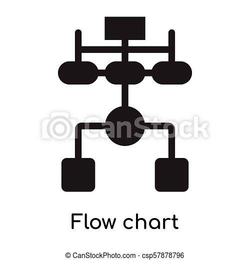 Flow Chart Icon Isolated On White Background For Your Web And Mobile
