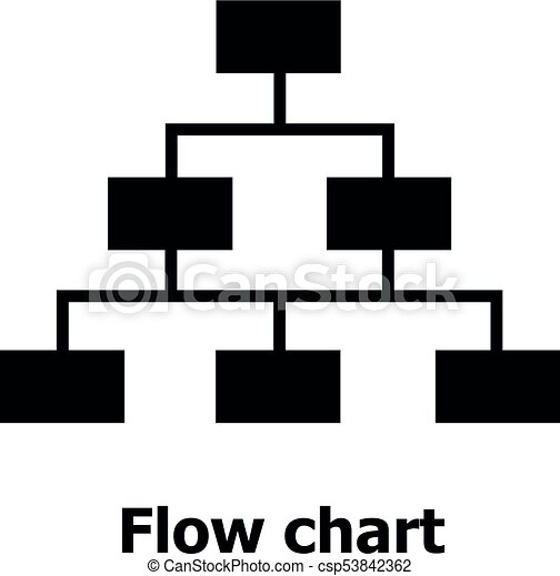 Flow Chart Icon Simple Style Flow Chart Icon Simple Illustration