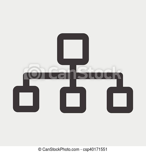 Flow Chart Icon Vector