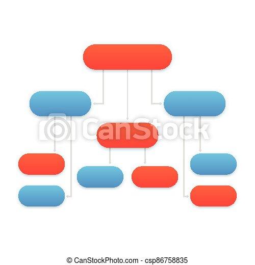 flowchart template, modern design - csp86758835