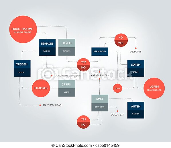 Flowchart. Template, scheme, diagram, infographic. - csp50145459