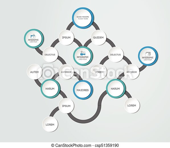 Flowchart. Template, scheme, diagram, infographic. - csp51359190
