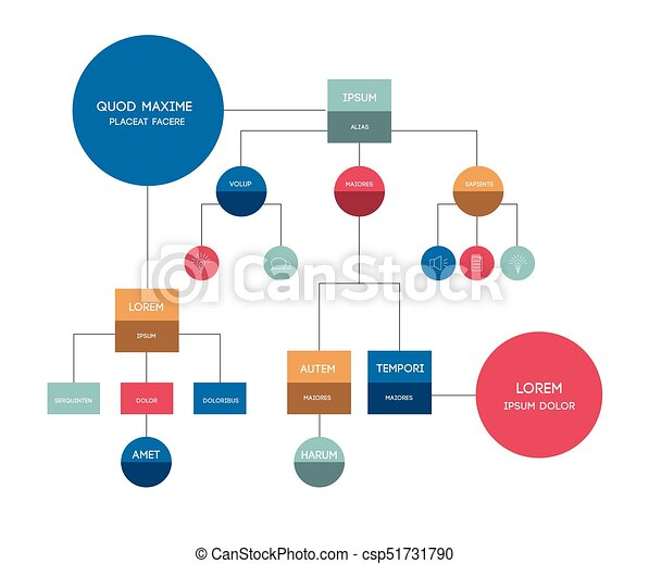 Flowchart. Template, scheme, diagram, infographic. - csp51731790