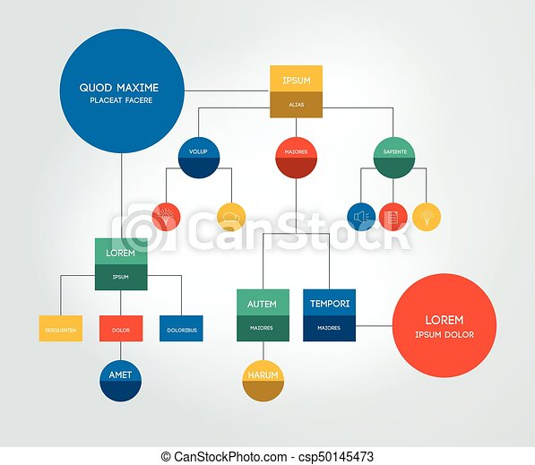 Flowchart Template Scheme Diagram Infographic Vectors